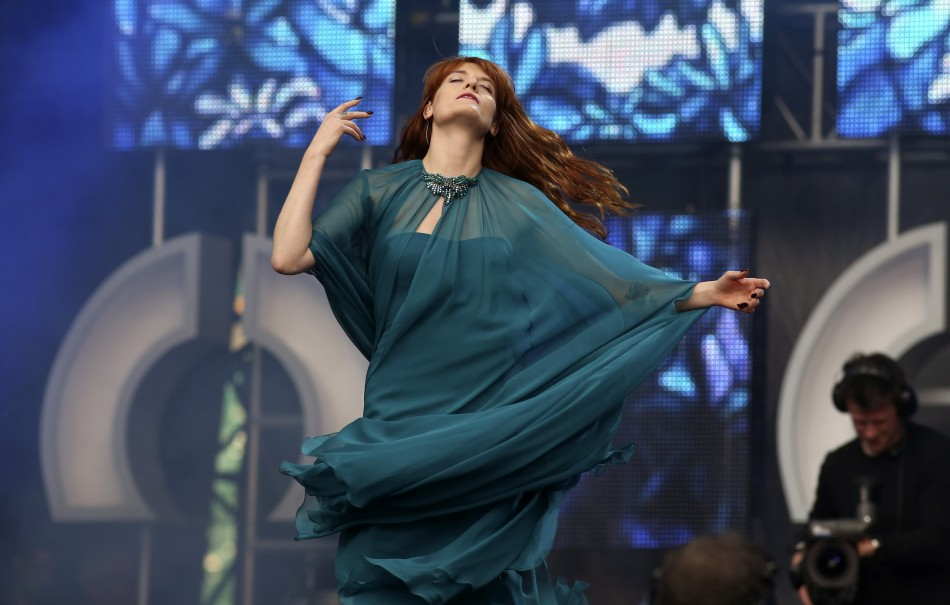Florence and the Machine perform at The Sound of Change concert at Twickenham Stadium in London June 1, 2013