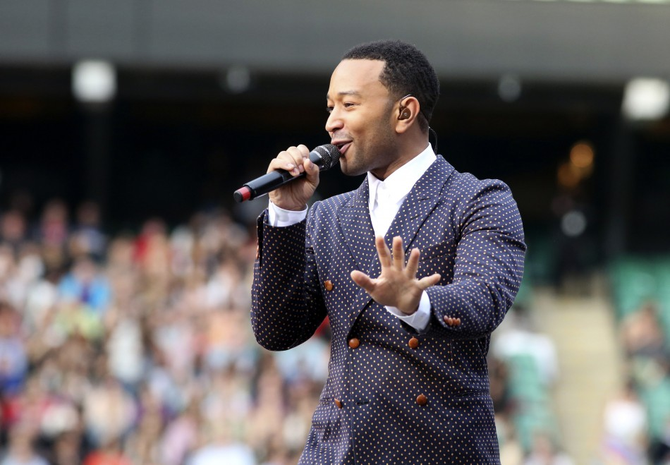 Performer John Legend performs at The Sound of Change concert