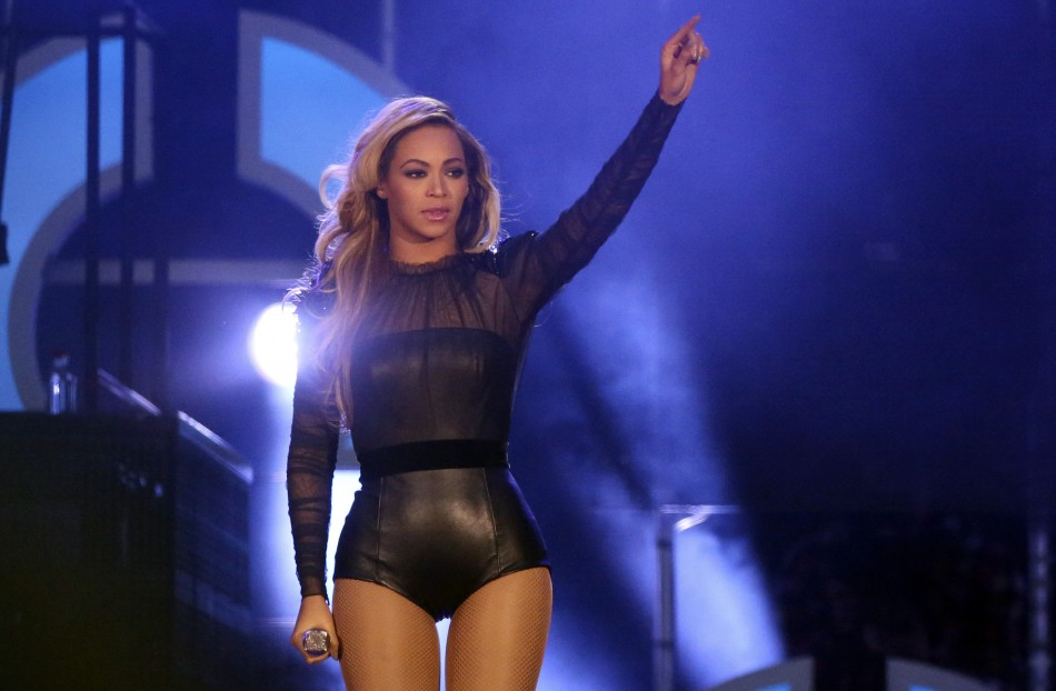 Singer Beyonce performs at The Sound of Change concert