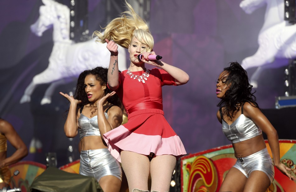 Singer Iggy Azalea performs at The Sound of Change concert