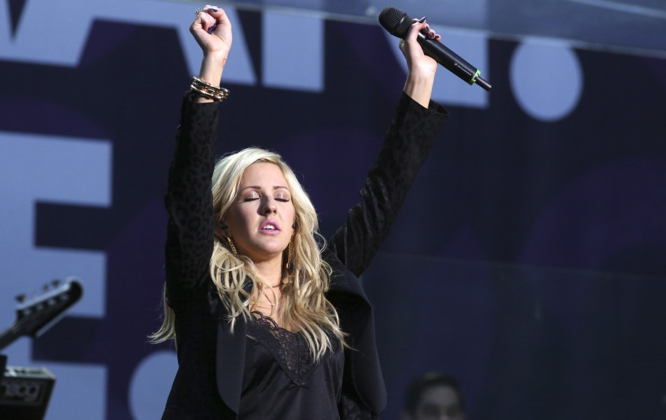 Singer Ellie Goulding performs at The Sound of Change concert