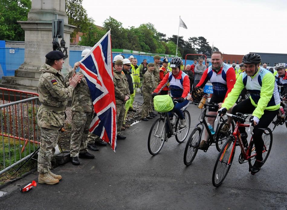 Help for Heroes charity bike ride