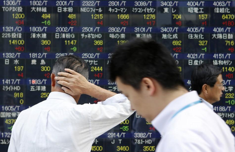 Japanese stocks dive