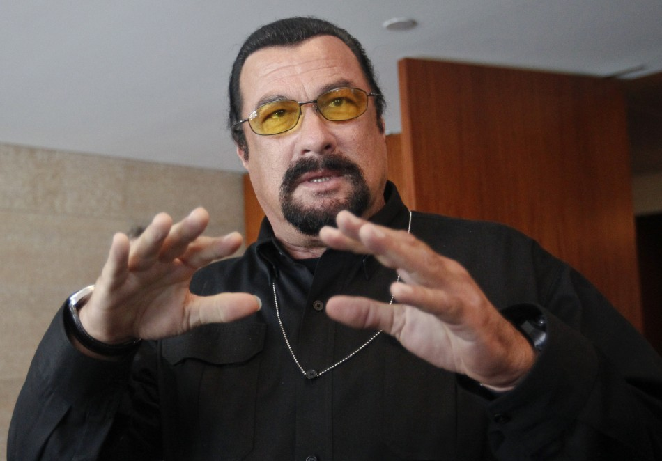 I'm on it: Steven Seagal makes terrorism vow