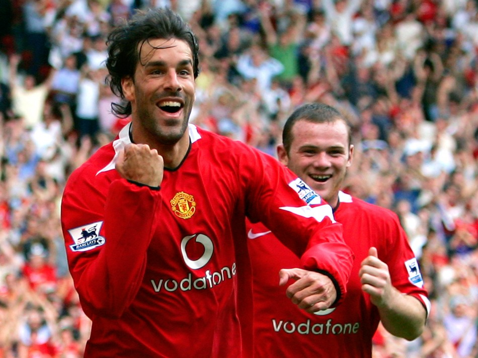 Ruud van Nistelrooy and Wayne Rooney