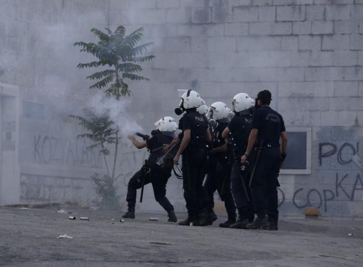 Police use teargas