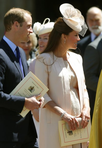 Catherine, Duchess of Cambridge has won kudos for her maternity fashion choice for the ceremony and her knack for repeating items she has worn before