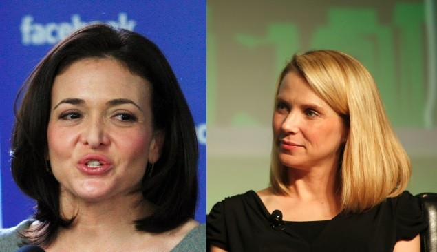 Facebook's Sheryl Sandberg and Yahoo!'s Marissa Mayer (Photos: Reuters)