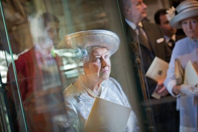 Queen Elizabeth attends a service celebrating the 60th anniversary of her coronation at Westminster Abbey in London June 4, 2013.