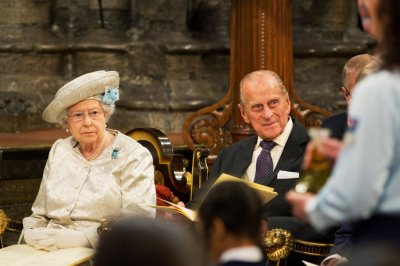 Queen Elizabeth and Prince Philip attend a service celebrating the 60th anniversary of the Queens coronation at Westminster Abbey in London June 4, 2013.