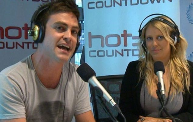 Michael Christian (l) and Mel Greig on air