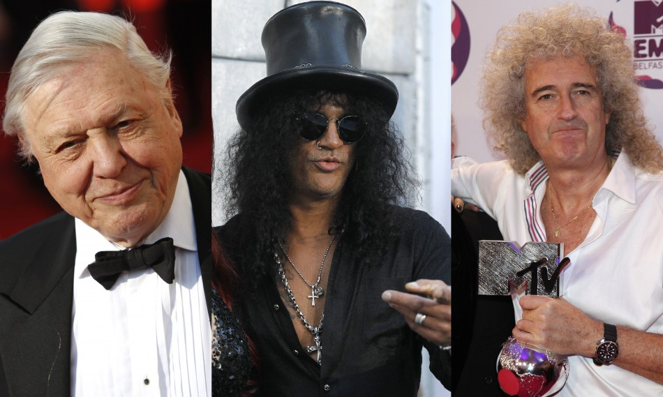 David Attenboroug, Slash and Brian May