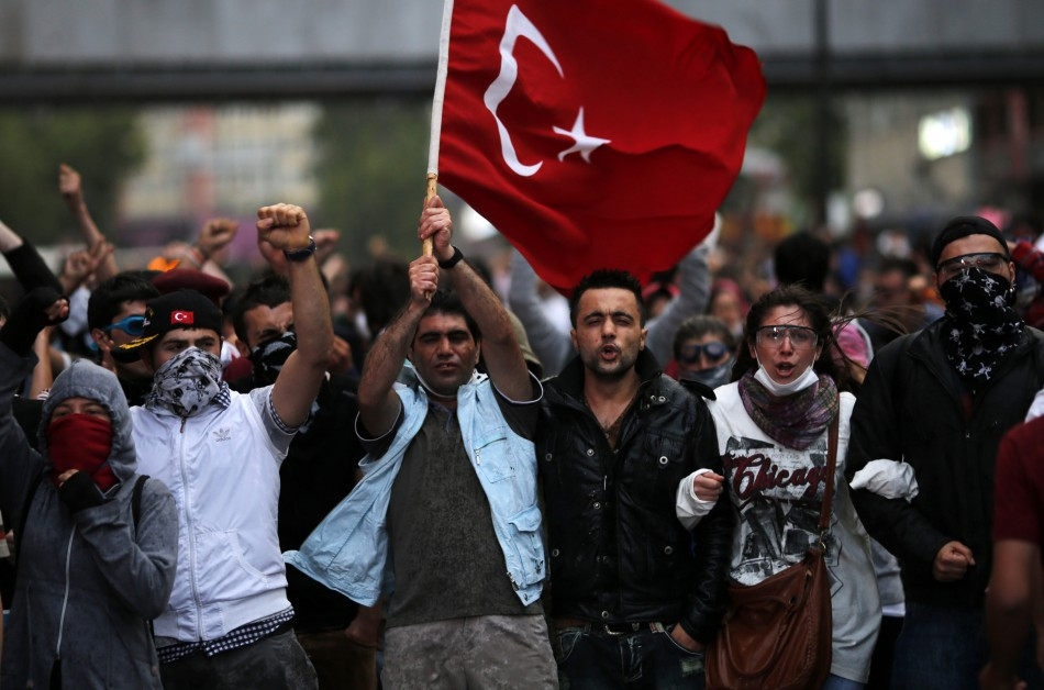 Turkish protesters in Ankara