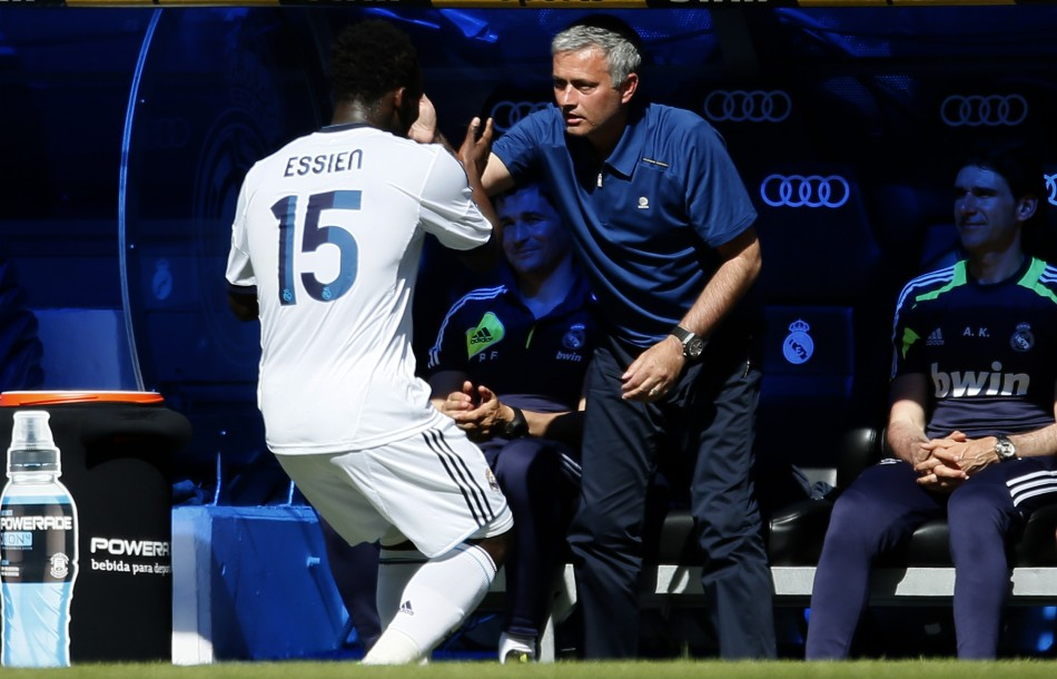 Michael Essien and Jose Mourinho