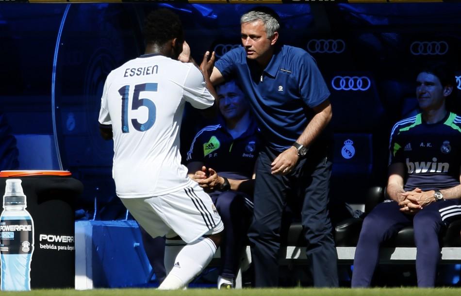 Michael Essien and Jose Mourinho