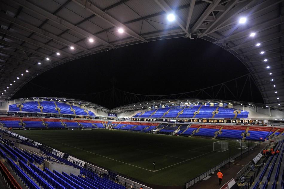 Bolton Wanderers' Reebok Stadium home
