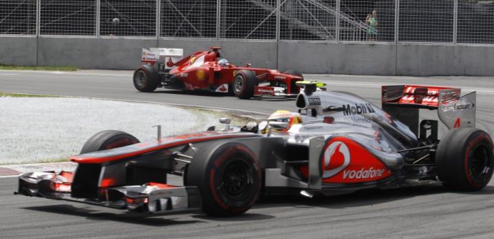 Lewis Hamilton [McLaren-Mercedes] and Fernando Alonso [Ferrari]
