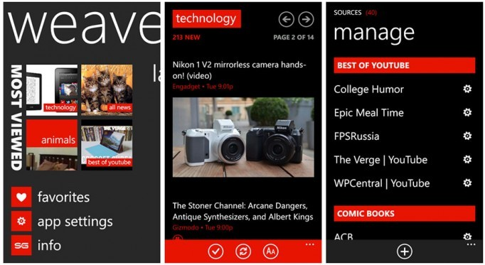 Best Windows Phones of the week Weave News Reader