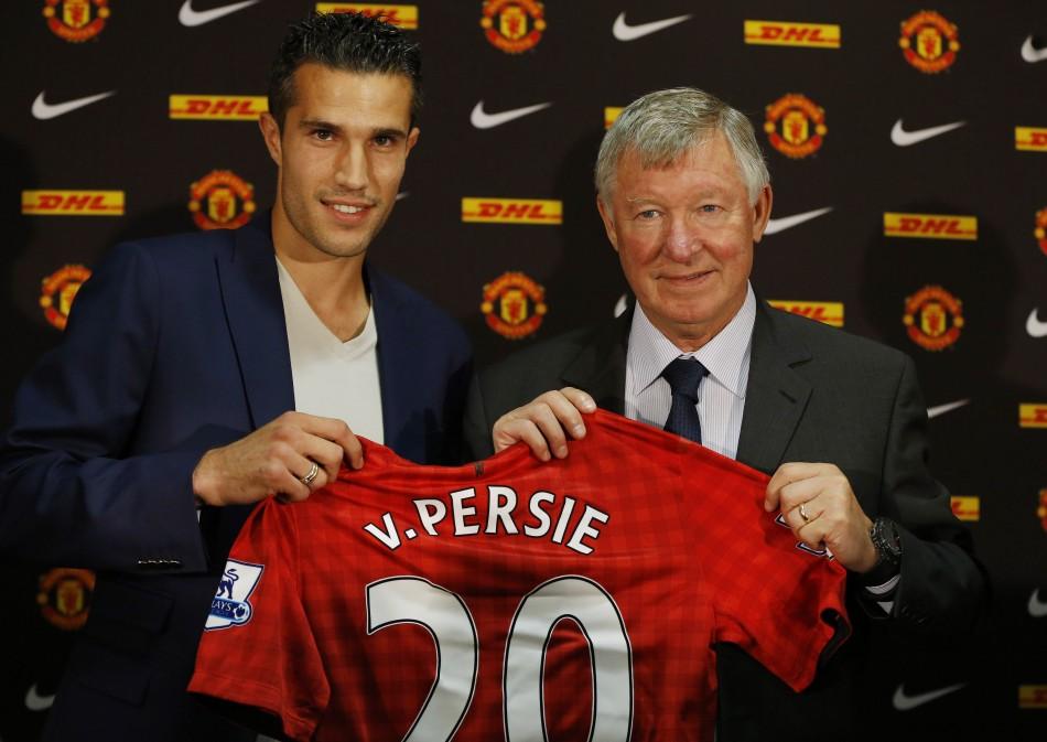 Robin van Persie (L) and Sir Alex Ferguson