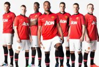 Manchester United's home kit for the 2013/14 season