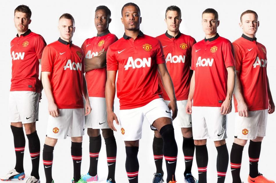 Manchester Uniteds home kit for the 201314 season