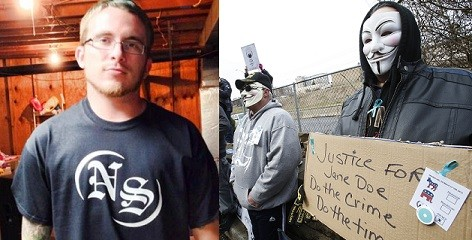 Deric Lostutter (L) has been identified as the hacker KYAnonymous, who exposed the Steubenville case (Facebook/Reuters)