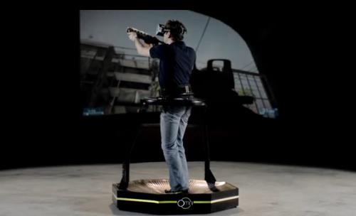 Omni Virtual Reality Treadmill headset