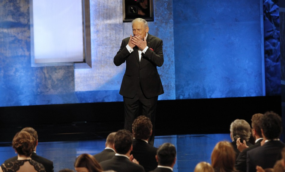Producer and honoree Mel Brooks acknowledges the audience as he walks on stage during the American Film Institutes 41st Life Achievement Award Gala at the Dolby theatre in Hollywood, California June 6, 2013.