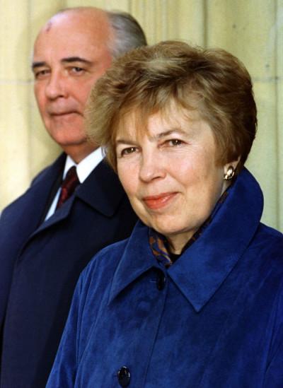 Mikhail Gorbachev and his wife Raisa who died of leukaemia