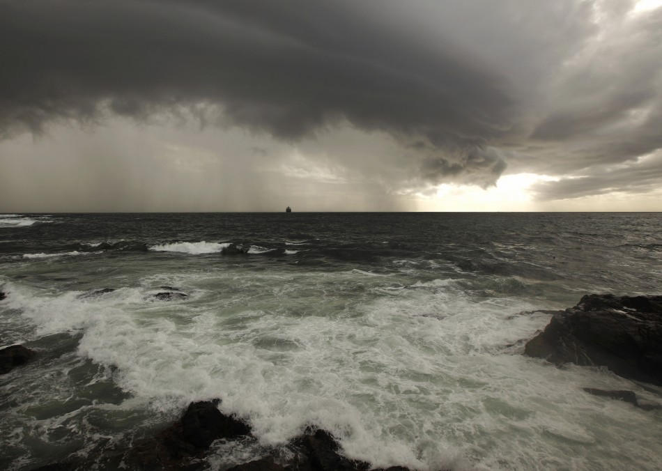 Stormy skies off South Africa