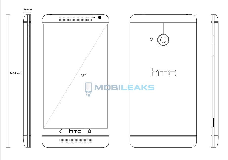 HTC T6 Blueprint (Courtesy: MobileLeaks)