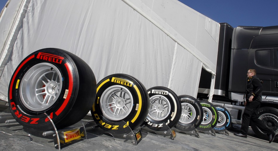 Pirelli Tyres for 2013 Formula 1 World Championship