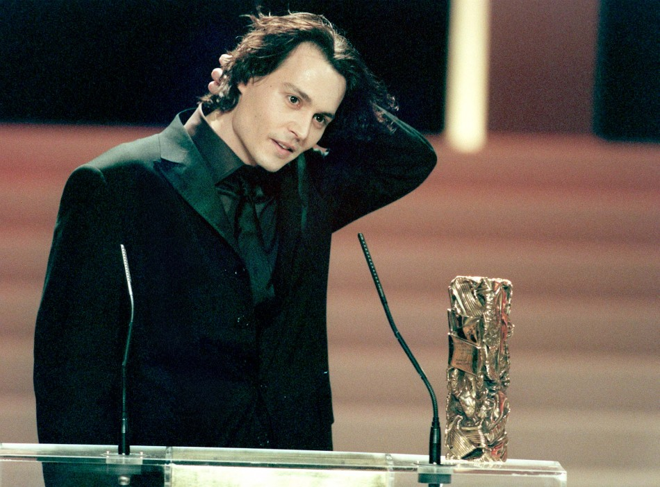 Johnny Depp received an honorary Cesar award for his acting career during the ceremonies at the Champs Elysees Theatre late March 6 1999