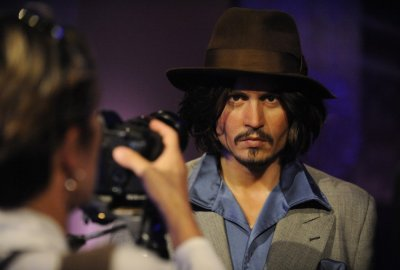 A waxwork of actor Johnny Depp is photographed at the opening of Madame Tussauds Hollywood in Los Angeles July 21, 2009.