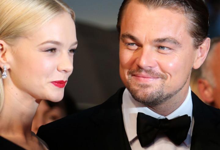 Leonardo DiCaprio with Great Gatsby co-star Carey Mulligan