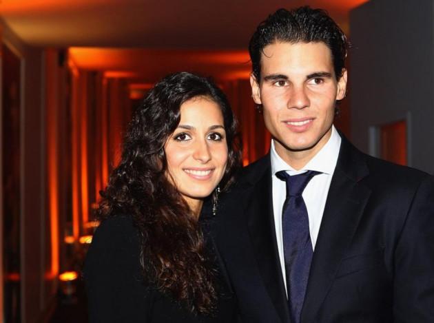 Rafa Nadal with girlfriend Maria Francisca Perello