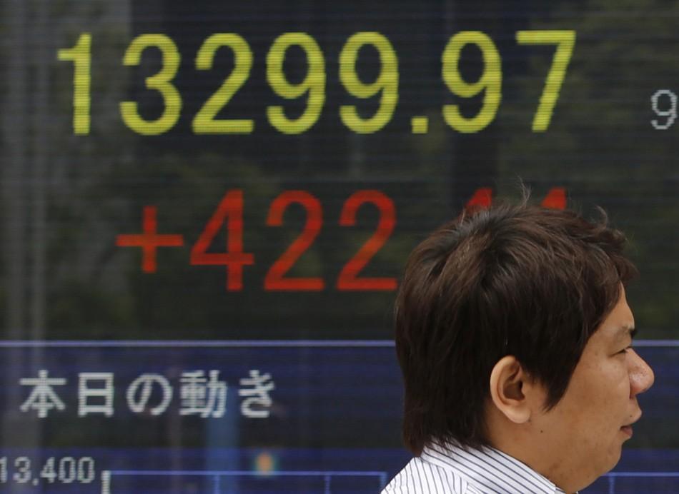 The Japanese Nikkei soars
