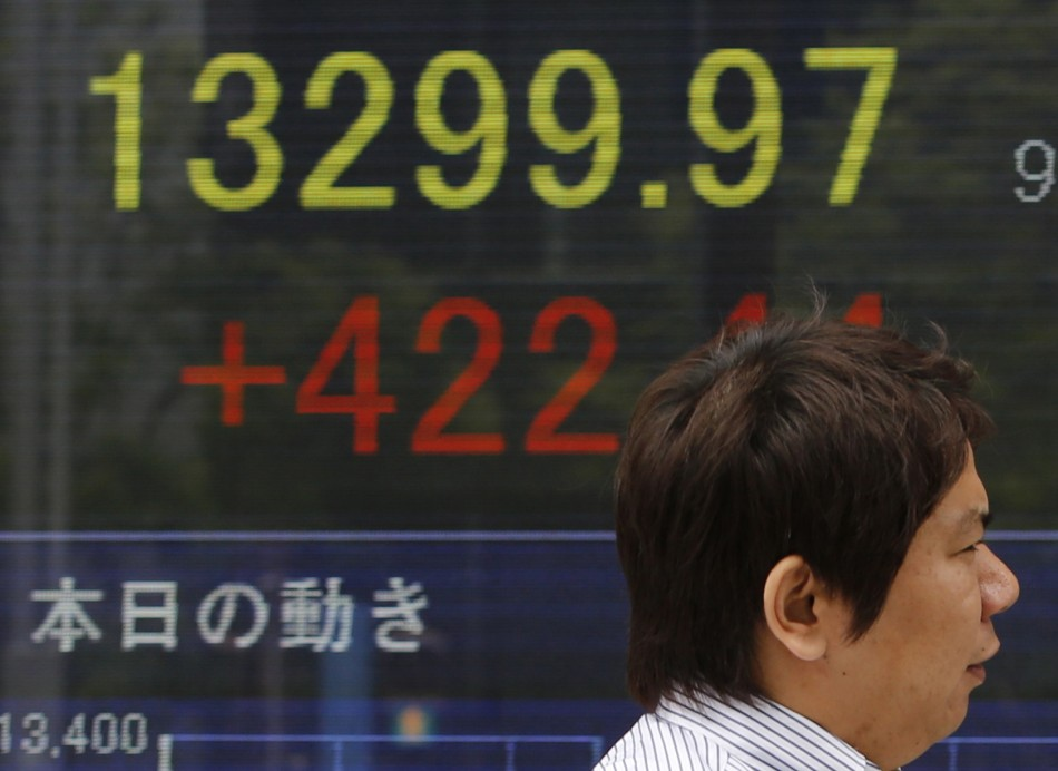 The Japanese Nikkei soars