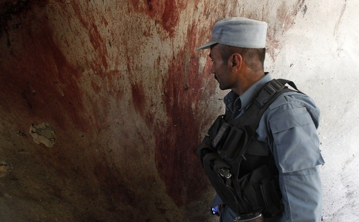 Blood on wall at Kabul airport in hours before beheading of ten-year-old boy