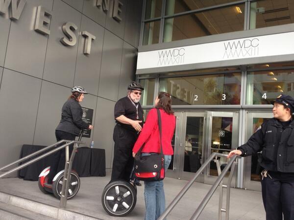 Steve The Woz Wozniak Arrives at WWDC Via Segway