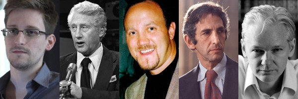 Snowden, Mark Felt, Brad Birkenfeld, Daniel Ellsberg, Julian Assange
