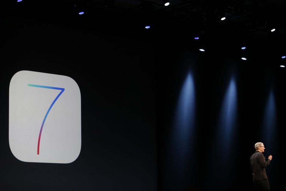Apple Tim Cook Unveils iOS 7