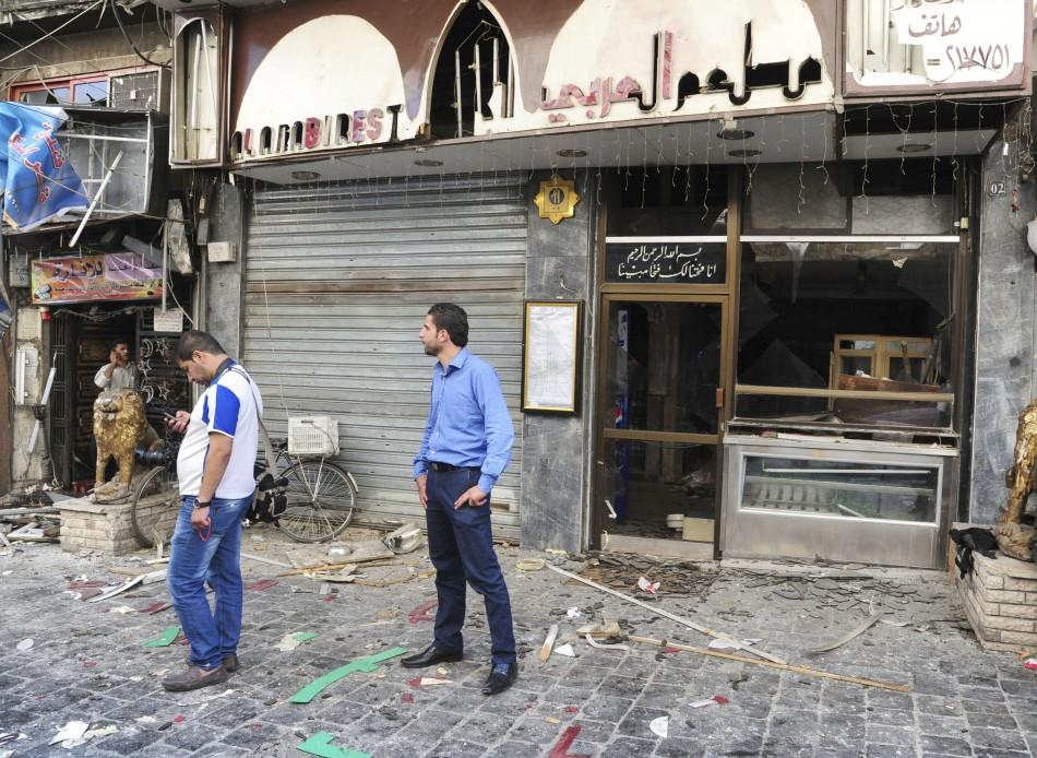 Syria Damascus double bombing