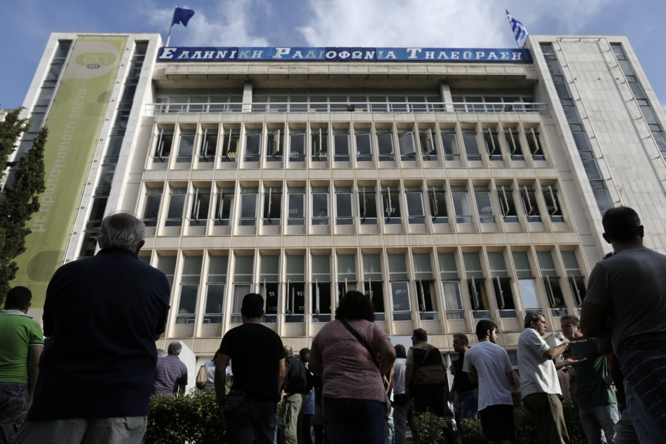 Greek state television ERT headquarters