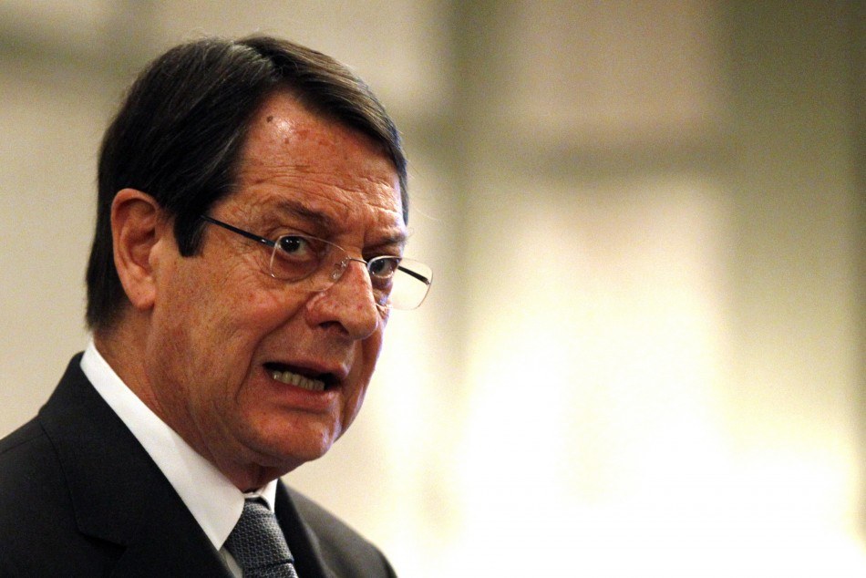 Cypriot President Nicos Anastasiades unleashed a scathing attack on the bailout conditions (Photo: Reuters)