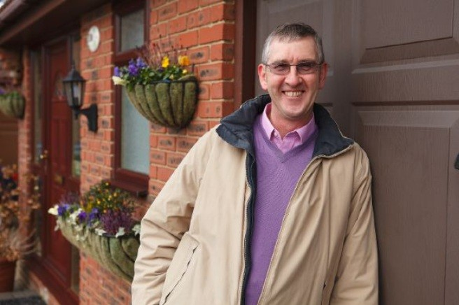 Not a victim: Keith Oliver at home at Canterbury