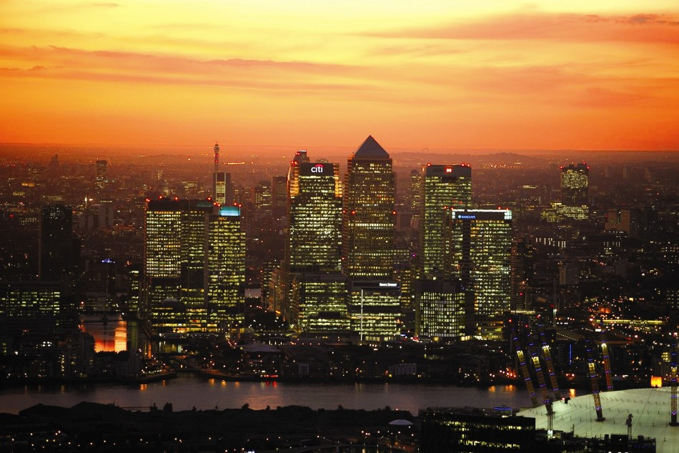 Canary Wharf (Courtesy: o2.co.uk)