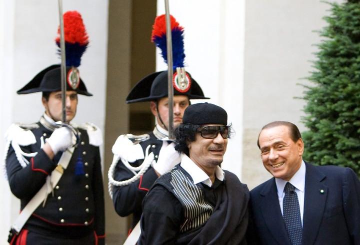 Gaddafi Berlusconi