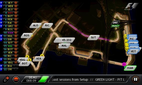 F1 Timing App Blackberry