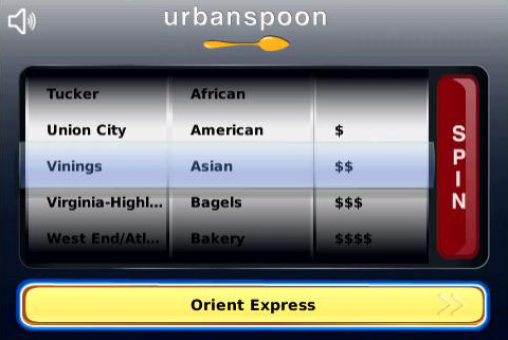 Urbanspoon best blackberry apps